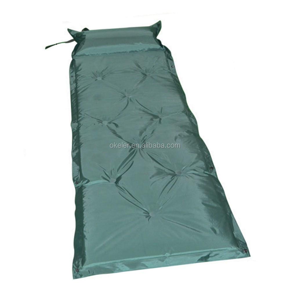 Automatic Inflatable Sleeping Pad with Pillow For Outdoor Camping for sale