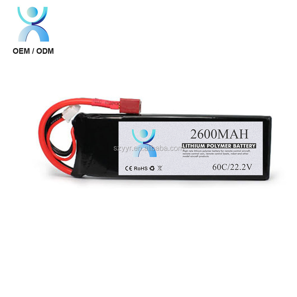 High performance Li-polymer rc battery 2600mAh 22.2V for rc helicopter