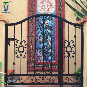 Protective Residential Steel Iron Gate Designs Simple For Homes