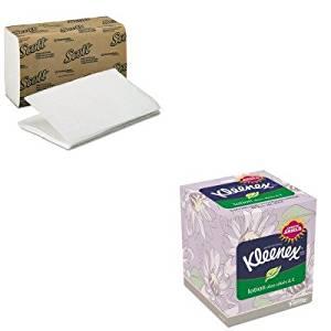 KITKIM01700KIM25829 - Value Kit - KIMBERLY CLARK KLEENEX Lotion Facial Tissue (KIM25829) and KIMBERLY CLARK SCOTT 1 Fold Paper Towels (KIM01700)