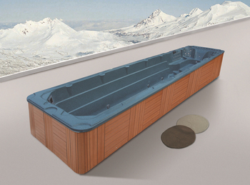 Monalisa above ground rectangular portable fiberglass for Fiberglass above ground pool