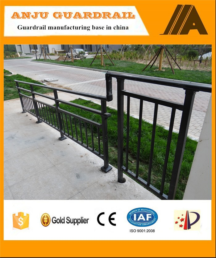 ISO certified Competitive price wrought iron stair railing AJ-Stair 001