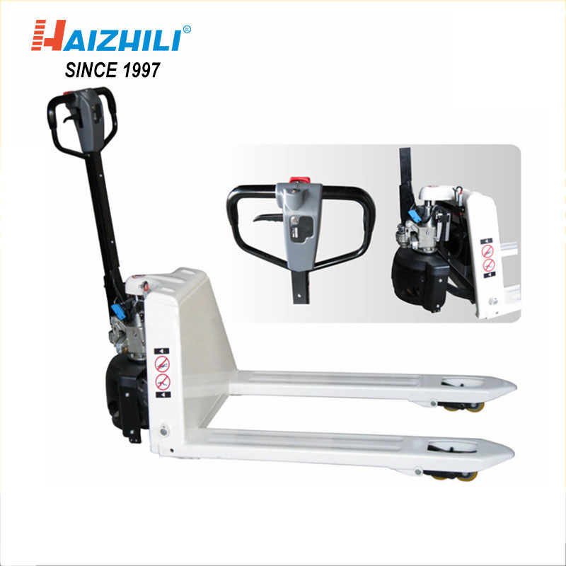 Wholesale 2000kg semi electric pallet truck, white color semi powered automatic pallet jack sale