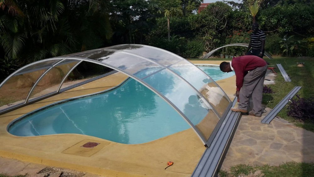 Retractable Best Winter Polycarbonate Swimming Pool Covers