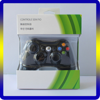 Black White Wireless Controller for Xbox 360 Game for Xbox 360 Console