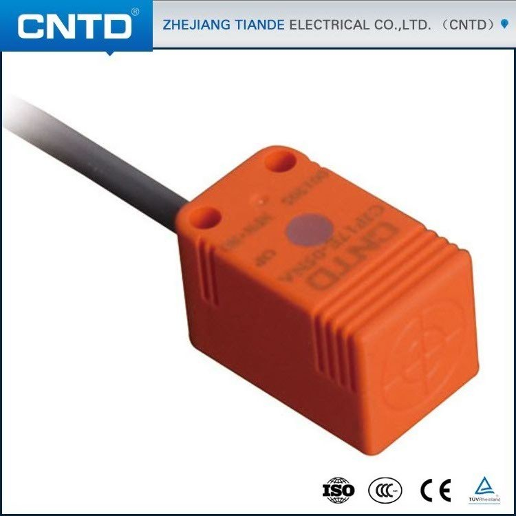 CNTD Quality Guarantee DC10-30V PNP NC Inductive Proximity Rectangular Sensor with 1.5m cable (CJF17E-05PB)