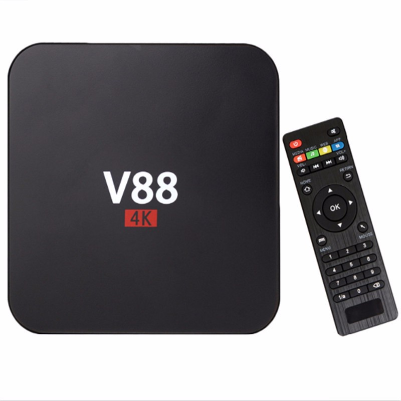 Fully loaded Android V88 Smart <strong>TV</strong> <strong>Box</strong> KODI Quad Core 1GB + 8GB <strong>Set</strong> <strong>Top</strong> <strong>Box</strong>