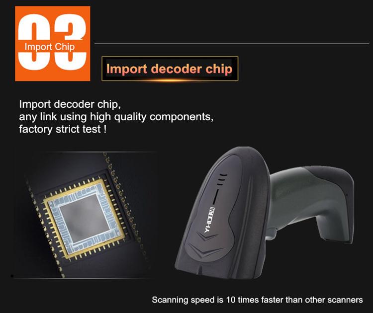 Utilização do armazém Barcode Scanner A Laser Sem Fio 433 mhz Scanner de Código De Barras WIFI Amazon Fornecedor Barcode Scanner NADAMOO