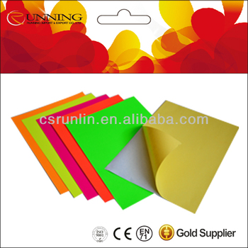 Self-adhesive Fluorescent Papers/ Fluorescent Paper/neon Color Paper ...