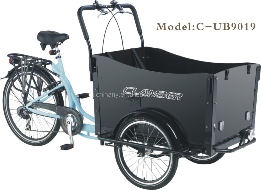 bakfiets 3 roues v lo bo te cargobike adulte cargaison. Black Bedroom Furniture Sets. Home Design Ideas