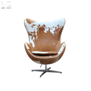 Cheap Classical Design Furniture Swivel Fiberglass Adult Size Cowhide Arne Jacobsen Egg Chair
