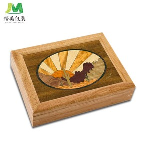 Hot sale Handmade Art Trinket Jewelry Gift wooden box with key lock