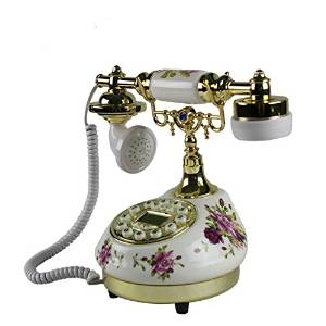 JQYD European antique telephones creative gifts home hotel office resin ceramic crafts fixed telephone landline