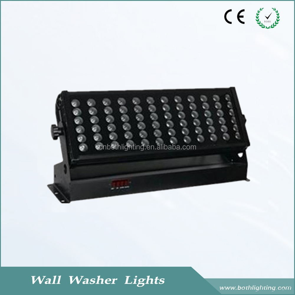 Factory Professional Ip55 72*3w Rgb Led Wall Washer Light