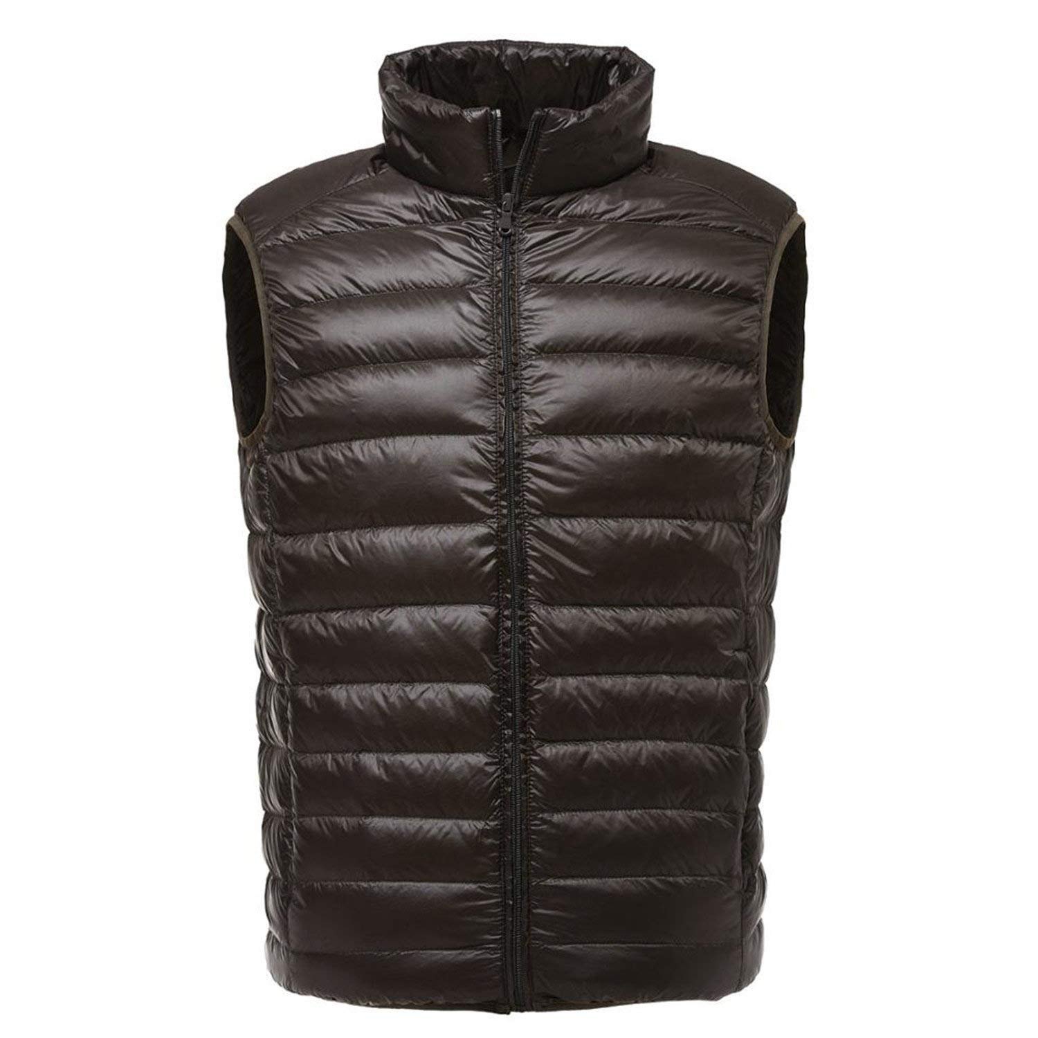 Jwhui Men Sleeveless Jacket White Duck Down Vest Male Slim Vest Mens Windproof Waistcoat