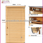 50mm red bamboo blind