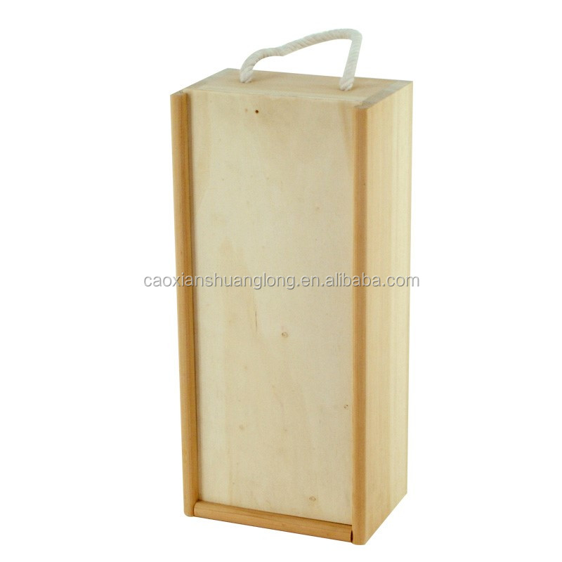 Two bottles wooden wine boxes wholesale