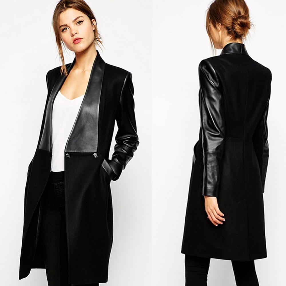 Womens long black coats