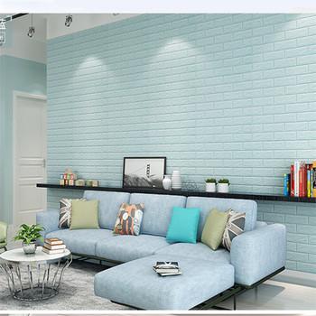 3d Pe Bricks Self Adhesive Wall Sticker Soft Foam Panels Buy High