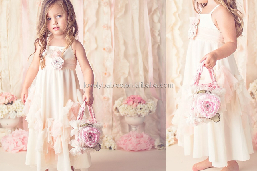 Spring Baby Cotton Maxi Black Dress Wholesale Children Clothing Usa