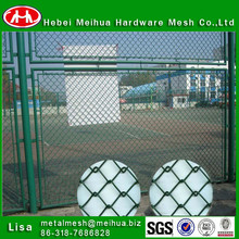 Meihua high quality used color coated super chain link fence/chain link basketball net