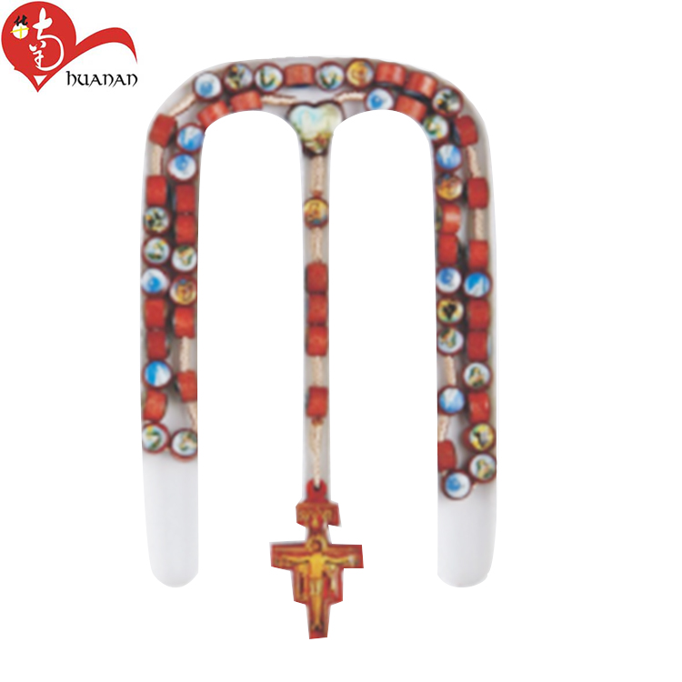 OEM red wooden cross rosary with More than 20 years of experience
