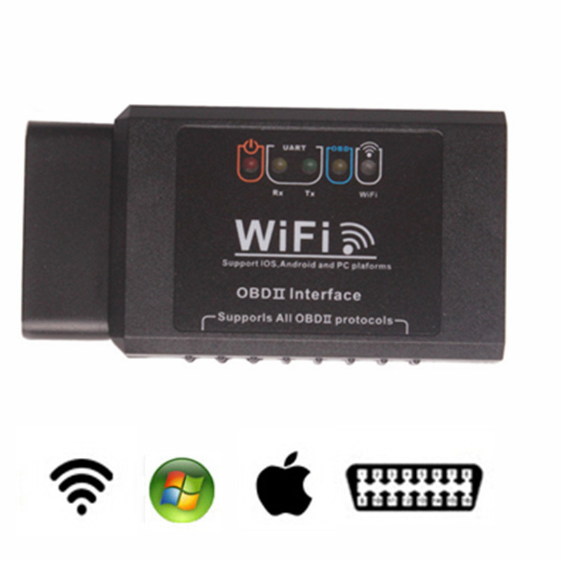 ELM 327 WIFI OBD2 / OBDII Auto Diagnostic Scanner Tool ELM327 WiFi Support IOS / Android System Free Shipping
