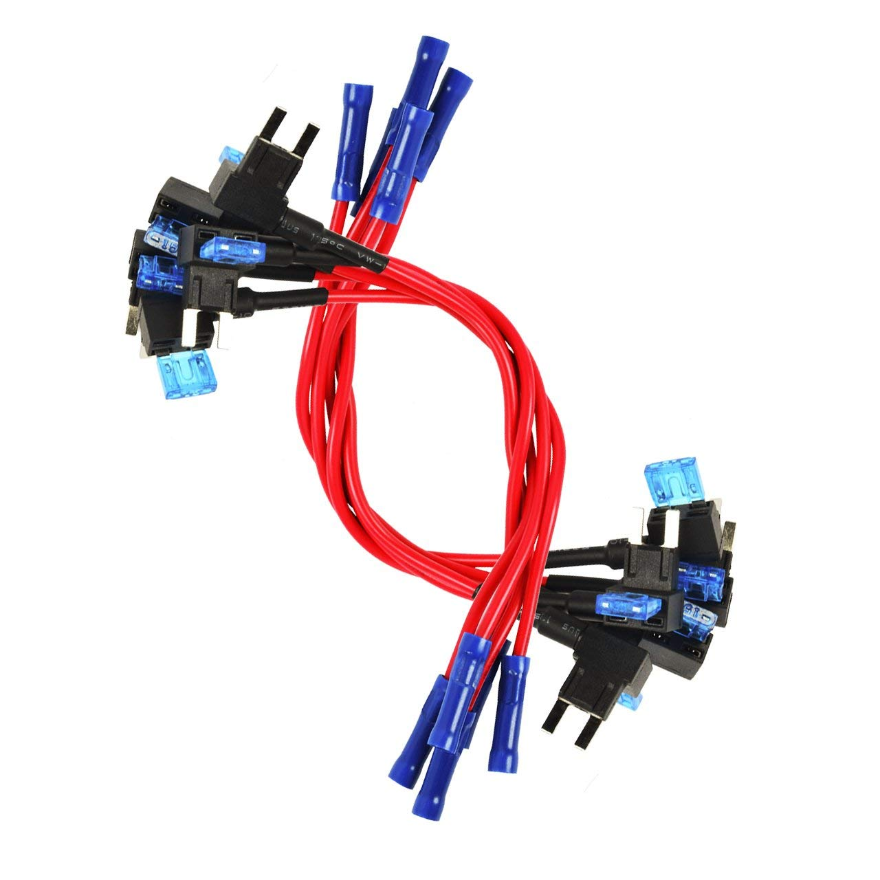 Cheap 10 Amp Mini Blade Fuse Find Deals On Holder Box Get Quotations Hjinyu Tap Pack Universal 16 Gauge Add A Circuit
