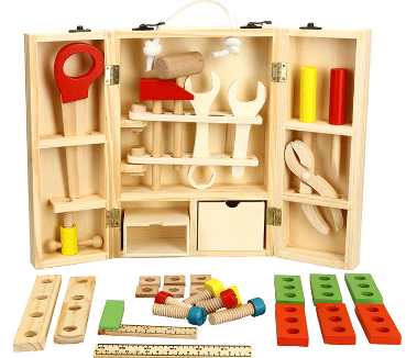 Holz spielzeug Baby Pull Entlang Zug spielzeug