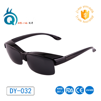 Oversized fit over sunglasses 2017 polarized, demi frame with TAC polarized lens