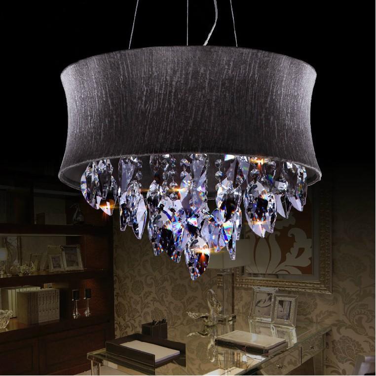 Betere Zwarte Stof Lampenkap Moderne Hanglamp Moderne Mode Zwarte LM-91