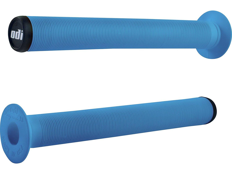 ODI Flangeless Longneck Soft Grips Light Blue 143mm Bike