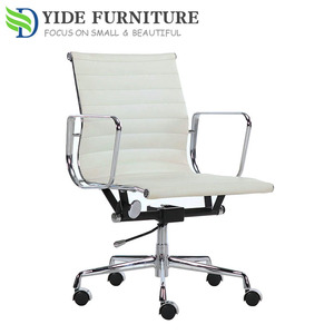 White leather swivel best ergonomic office conference chair for meeting