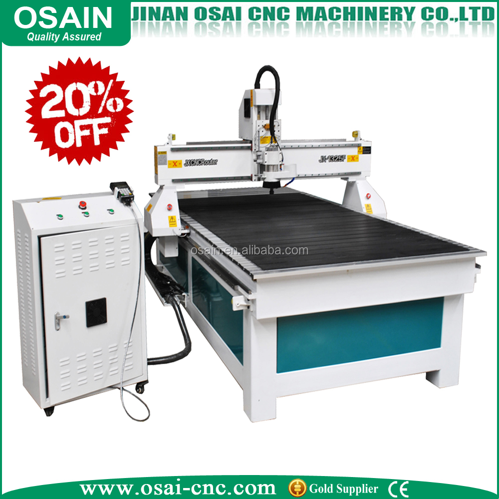 Jinan OSAIN 1325 signage advertising cnc router for sign LED letter acrylic PVC ACP wood