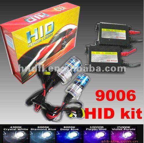 9006 Xenon Hid Lights Kit 12v 24v 35w 55w 75w 3000k 4300k 5000k 6000k 8000k 10000k 12000k 30000k
