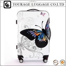 Travel Custom Print Butterfly Kid Suitcase , Print Kid 3d Luggage
