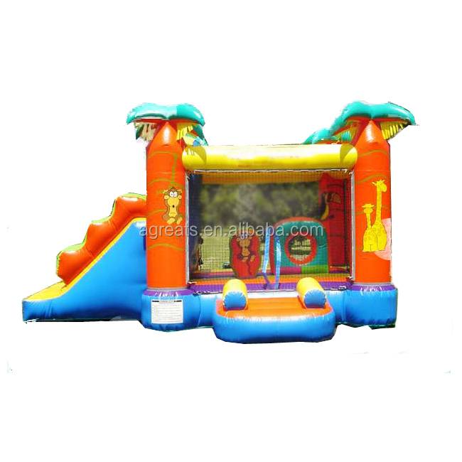 Small outdoor decoration <strong>inflatable</strong> bouncy castle, <strong>Inflatable</strong> Jumping Castle with slide include air blower G1033