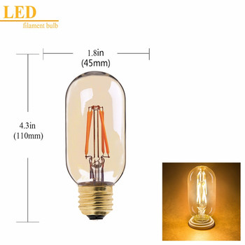 OEM ODM Vintage Decoration 110V 220V Edison dimmable retro led filament bulb lamp T14 e26 T45 e27 led light