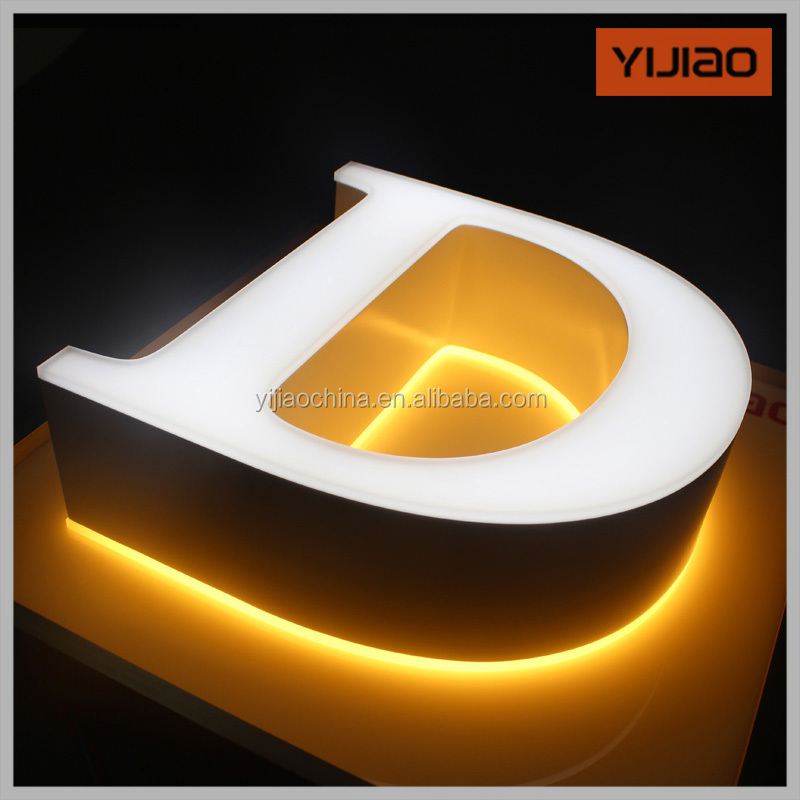 Custom Led Store Front Signs Led Lighting Alphabet Letters Without Trim Cap