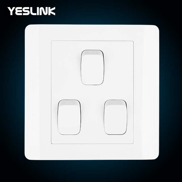 Easy installation Waterproof Electric 3 Gang Electric Pakistan Wall Switch For Home