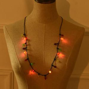 4 Luminous Mode Christmas Day Holiday Party Flash LED Light Necklace