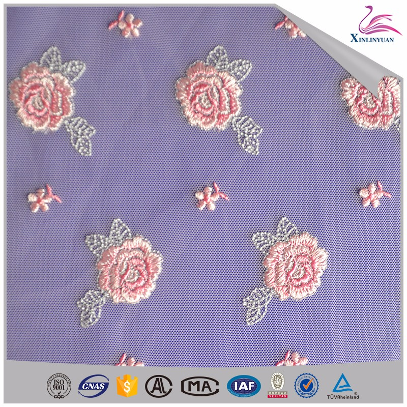 Garment eyelet net fabric for wedding dress lace