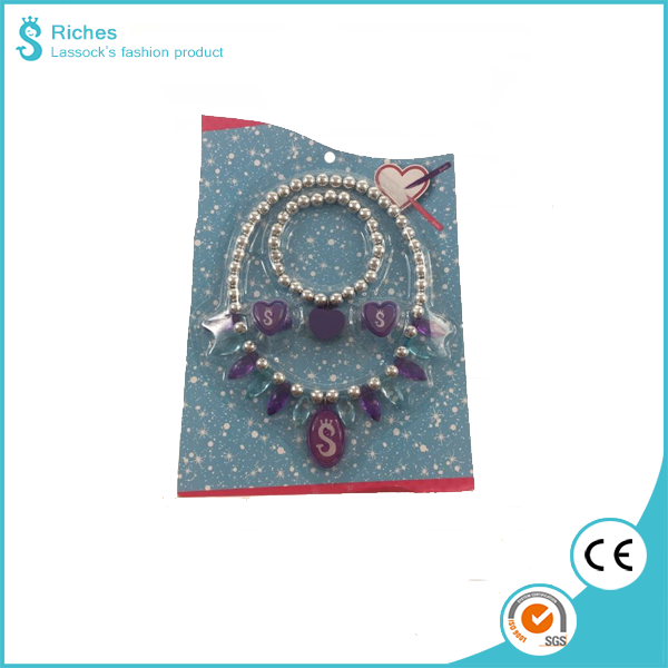 Hot selling Frozen Princess jewelry set 3pcs necklace/ bracelet/finger ring for promotion