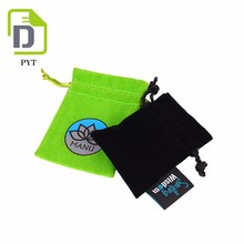 Eco Friendly recyclable drawstring velvet jewelry pouch bag
