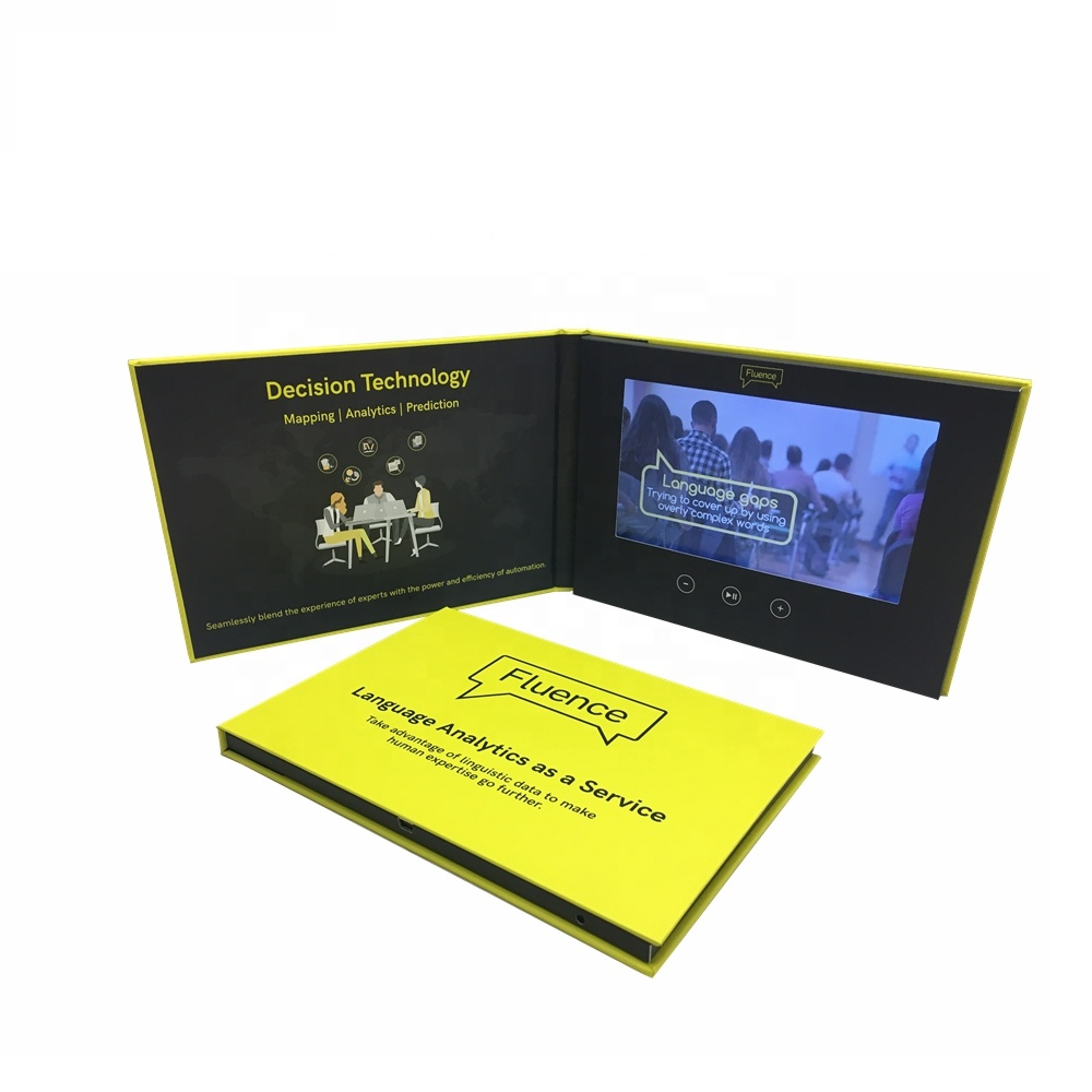 Customized Video Brochure With White Blank Printing