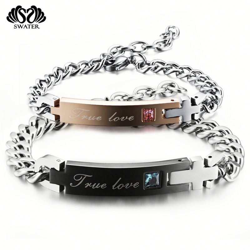 High Quality Custom Adjustable Couple Stainless Steel Medical Bracelet