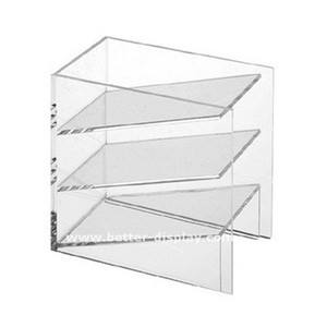 promotional office 3 layers desktop clear acrylic document storage box