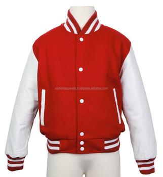 Rot Und Weiß Varsity Jacke Für Schüler Und College Buy Rot Und Weiß Varsity Jacke,Varsity Letterman Jacken Hochschule Jacken,Benutzerdefinierte