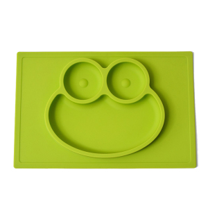 Frog Shape Silicone Tray Dinner Plate For Baby Kids Food Contact Safe