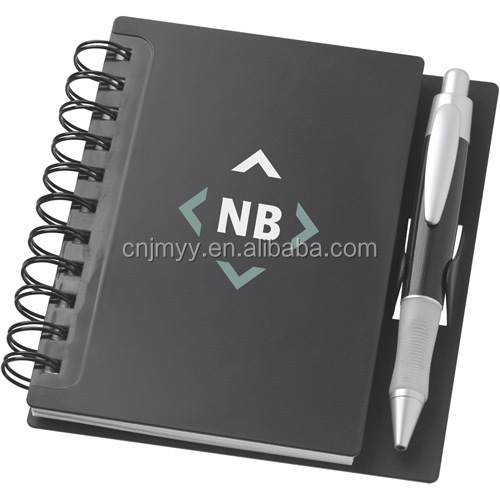 2020 Mini Pp Cover Blank Paper Spiral Notebook With Pen